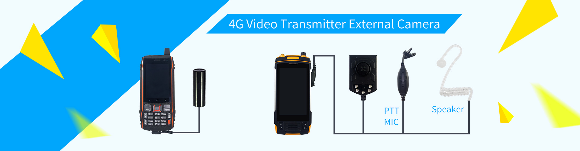 4G video transmitter with external camera